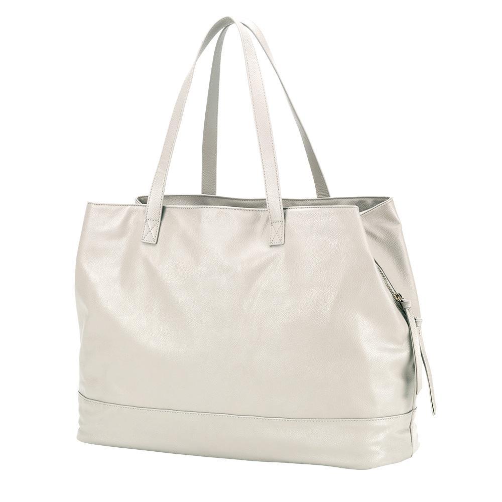 Cambridge Travel Bag Creme Vegan Leather Tote Bag