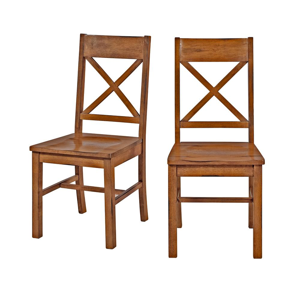 Walker Edison Furniture Company Millwright Antique Brown Wood Dining