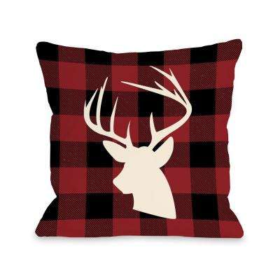 Comet Plaid 16 in. x 16 in. Decorative Pillow