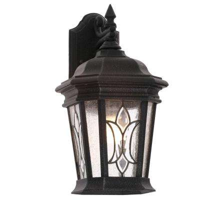 Cranbrook Collection 1-Light Outdoor 8.5 Inch Gilded Iron Wall Lantern