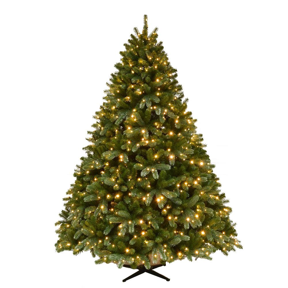 7 Ft Christmas Tree: Home Accents Holiday 7.5 Ft. Pre-Lit Grand Fir Quick Set
