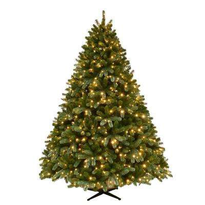 7.5 ft. Pre-Lit Grand Fir Quick Set Artificial Christmas Tree with Supernova Color Changing Lights