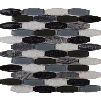 Haley Gris 12 in. x 12 in. x 8 mm Glass Stone Mesh-Mounted Mosaic Tile (10 sq. ft. / case)