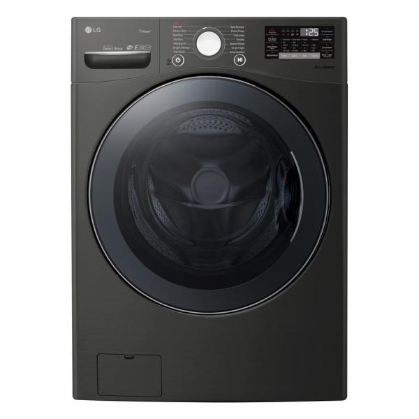 4.5 cu. ft HE Ultra Large Smart Front Load Washer with TurboWash360, Steam & Wi-Fi in Black Steel, ENERGY STAR