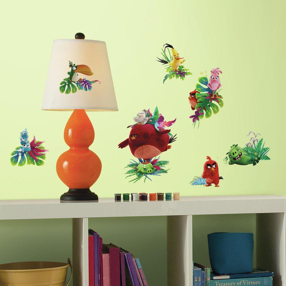 RoomMates 5 in. x 11.5 in. Angry Birds the Movie 17-Piece Peel and ...