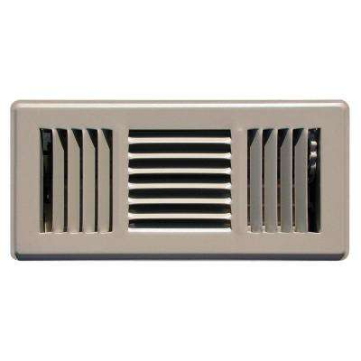 4 in. x 10 in. Steel 3 Way Floor Diffuser in Brown
