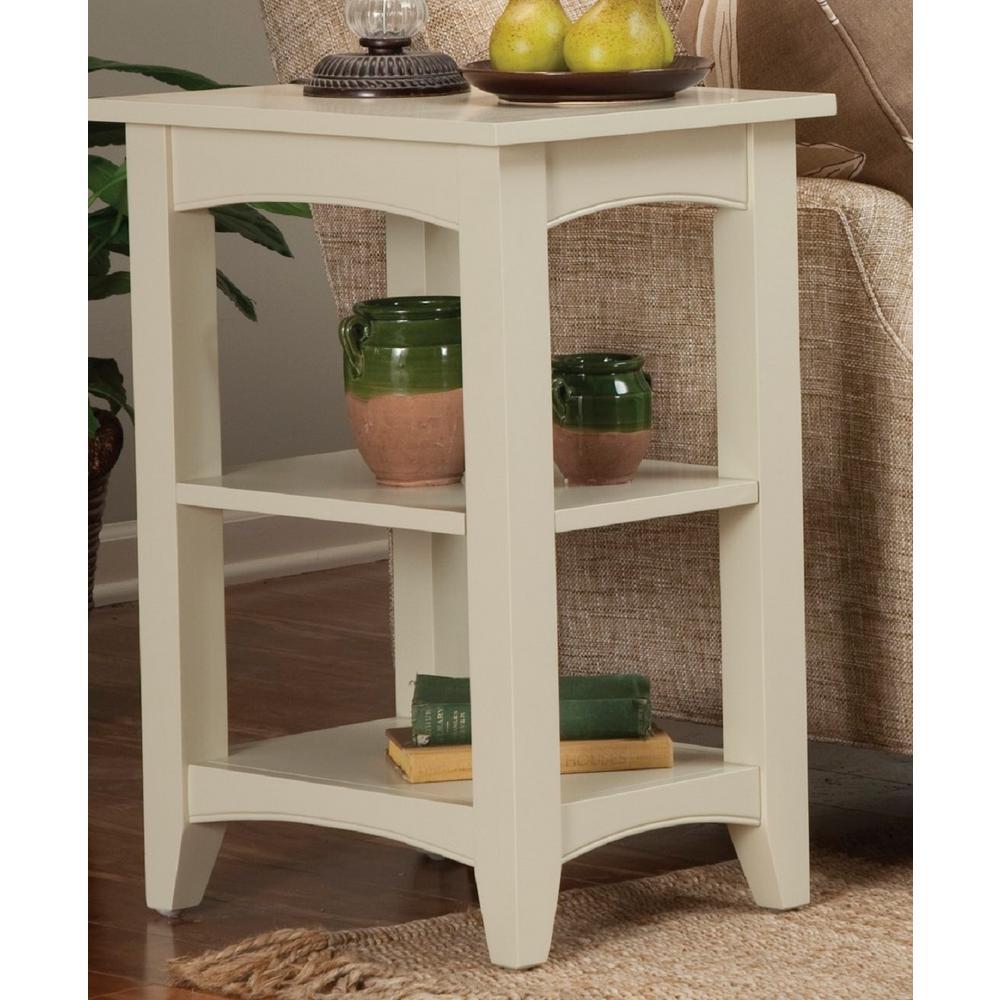 Alaterre Furniture Shaker Cottage Sand Storage End Table ASCA02SA