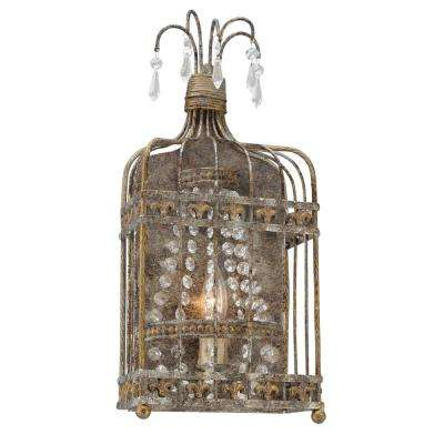 Amelie Provence Rust Wall Mount Sconce