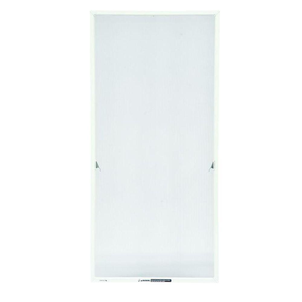17-1/16 in. x 36-11/32 in. White Aluminum Casement Insect Screen