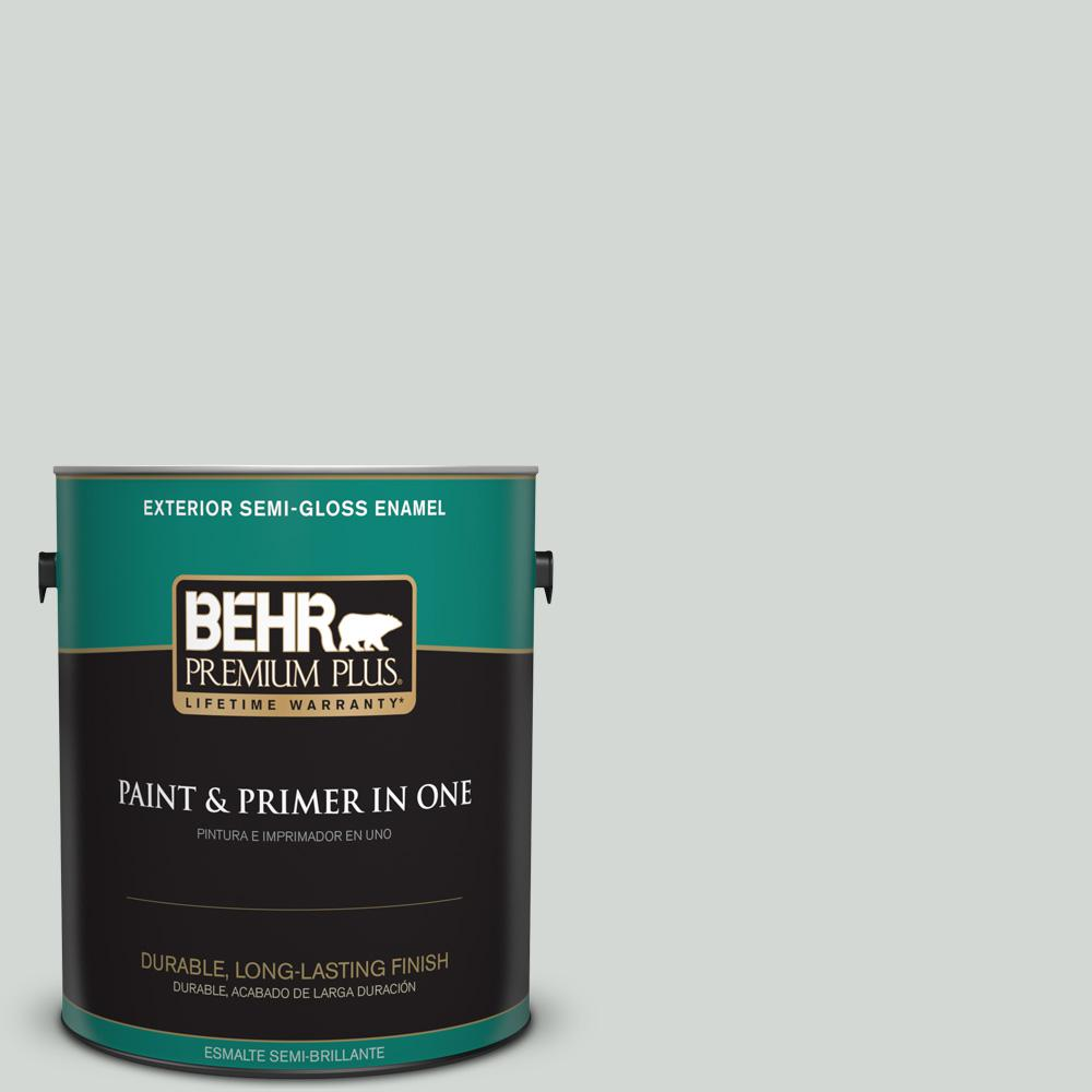 1 gal. #PPU25-13 Misty Coast Semi-Gloss Enamel Exterior Paint