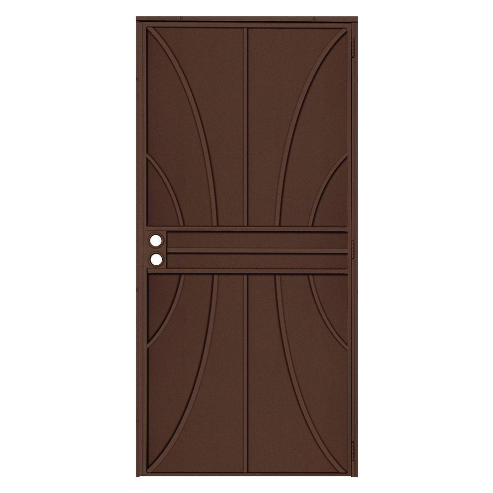 Elegant Unique Home Designs 36 In. X 80 In. Meridian Copper Surface Mount Outswing  Steel