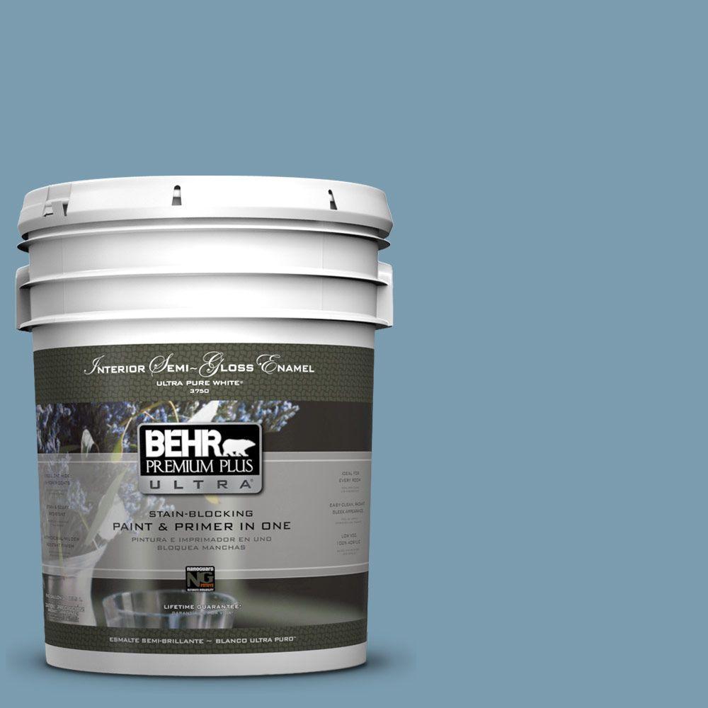 5-gal. #550F-4 Cool Dusk Semi-Gloss Enamel Interior Paint