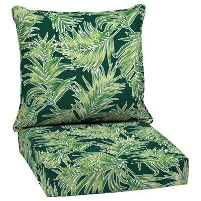 Emerald Quintana Tropical 2-Piece Deep Seating Outdoor Lounge Chair Cushion