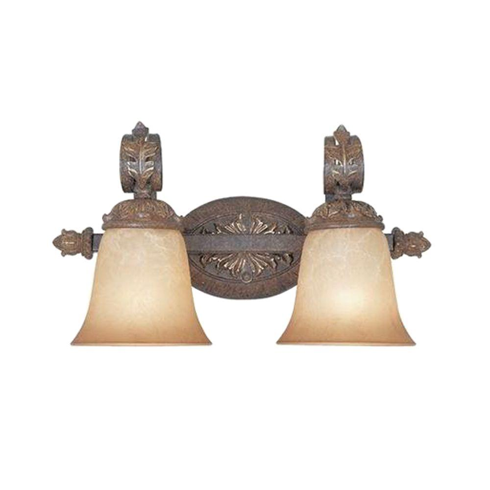 Designers Fountain Colmar Collection 2-Light Venetian Bronze Gold Wall Vanity Light
