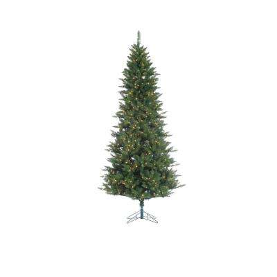12 ft. Indoor Pre-Lit Narrow Nordic Fir Artificial Christmas Tree with 1250 Clear Lights