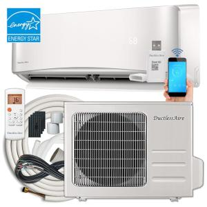 21 SEER 18,000 BTU 1.5 Ton Wi-Fi Ductless Mini Split Air Conditioner and Heat Pump Variable Speed Inverter - 220V/60Hz