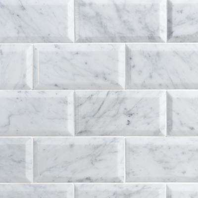 Subway Marble Tile Natural Stone The Home Depot