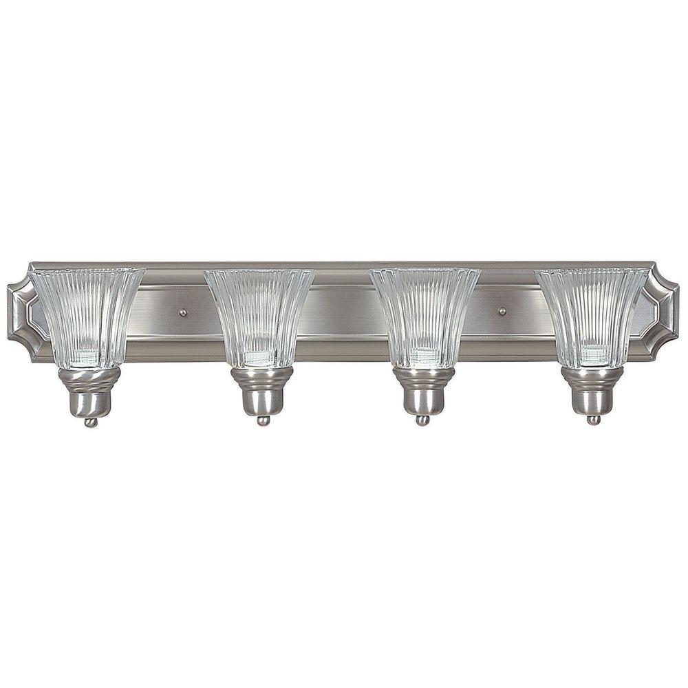 Denman 4-Light Satin Nickel Vanity Light
