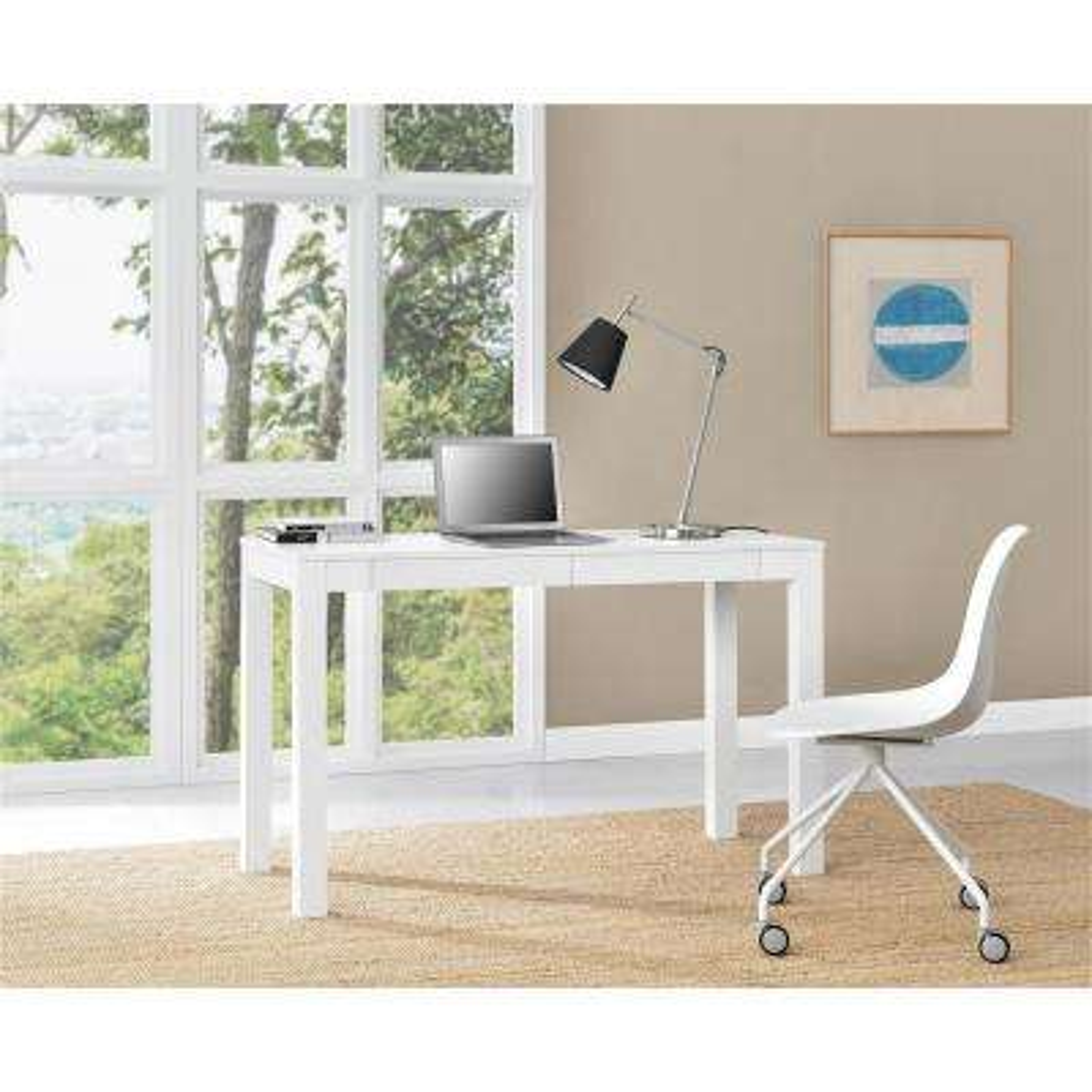 Parsons XL White Desk
