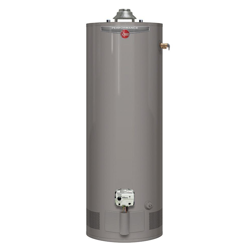 Rheem performance 50 gal tall 6 year 38 000 btu natural Natural gas water heater