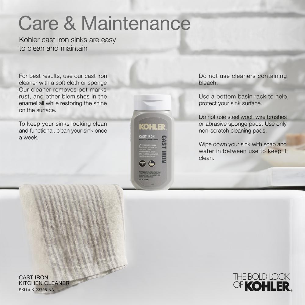 Kohler Hartland Undermount Cast Iron 33 In 5 Hole Double Bowl Kitchen Sink In Black N Tan K 5818 5u Ka The Home Depot