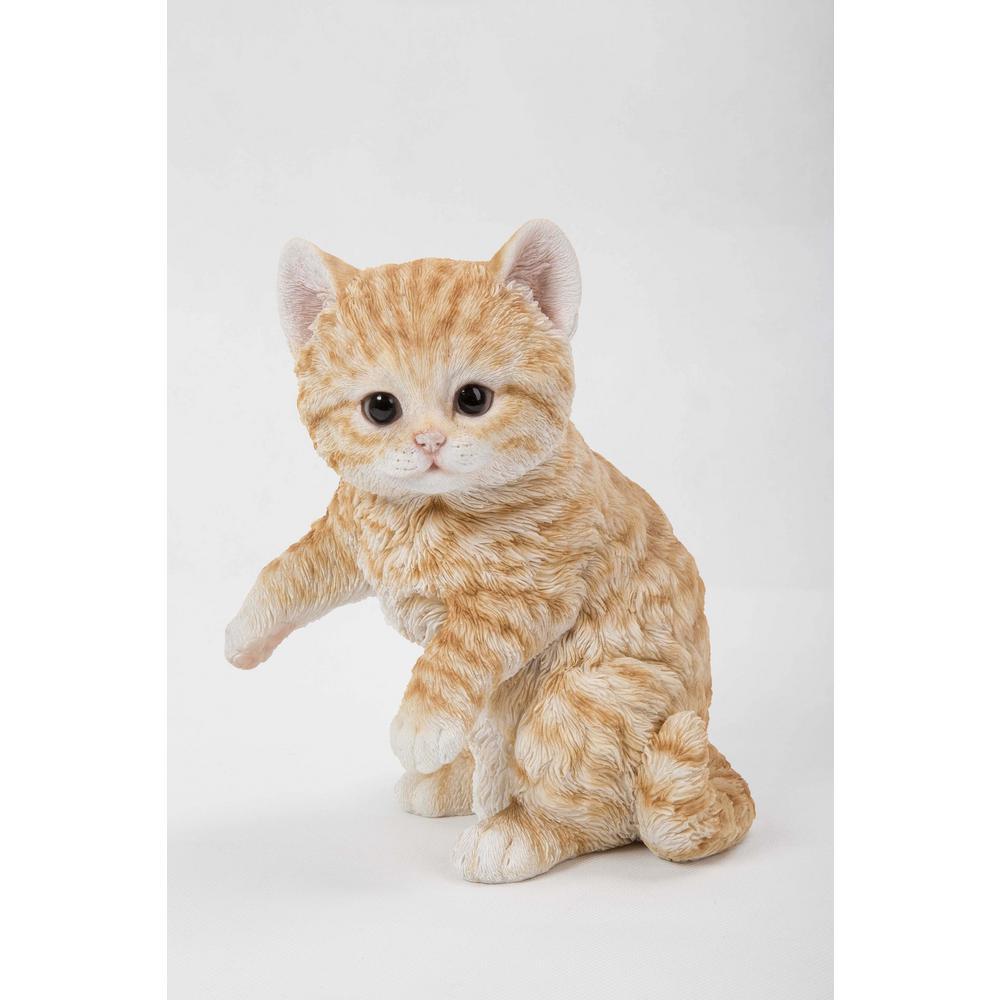 Orange Tabby Kitten Playing Statue