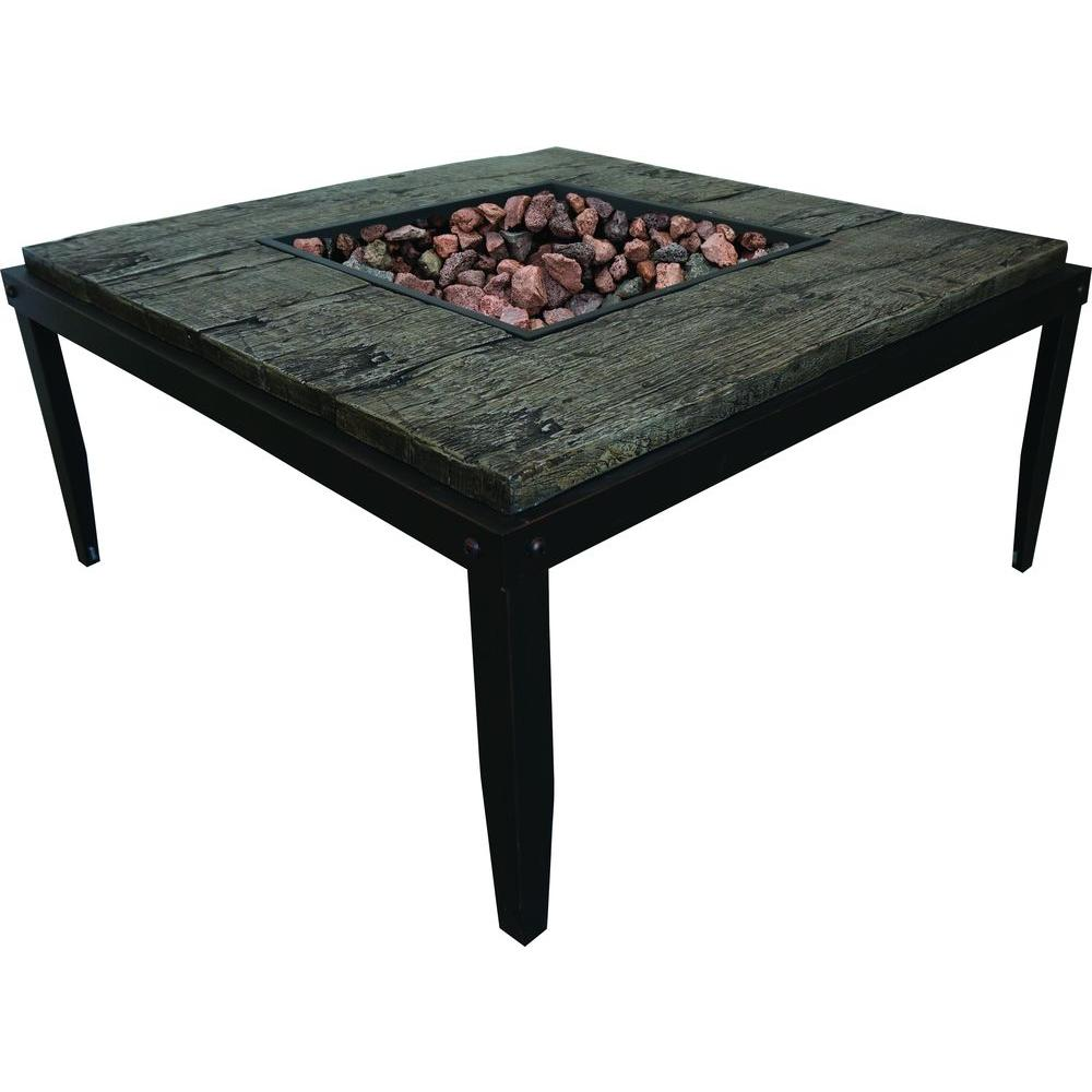 Beau Tall Tiburon Stainless Steel Table Fire Pit