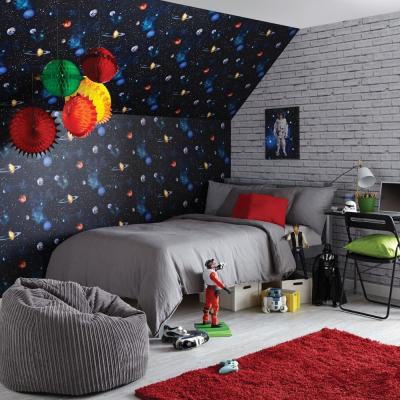 Cosmos Charcoal Wallcovering