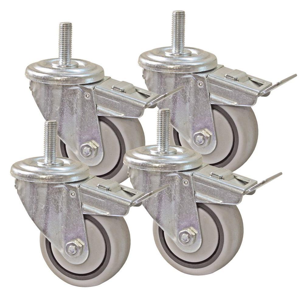 3 in. Dual Locking Caster Set (Set of 4)