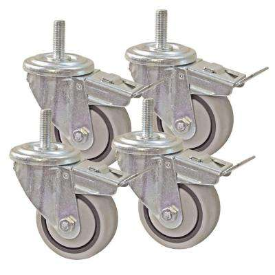 3 in. Dual Locking Caster Set (Set of 4)