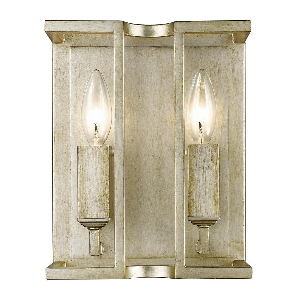 Bellare 2-Light White Gold Sconce