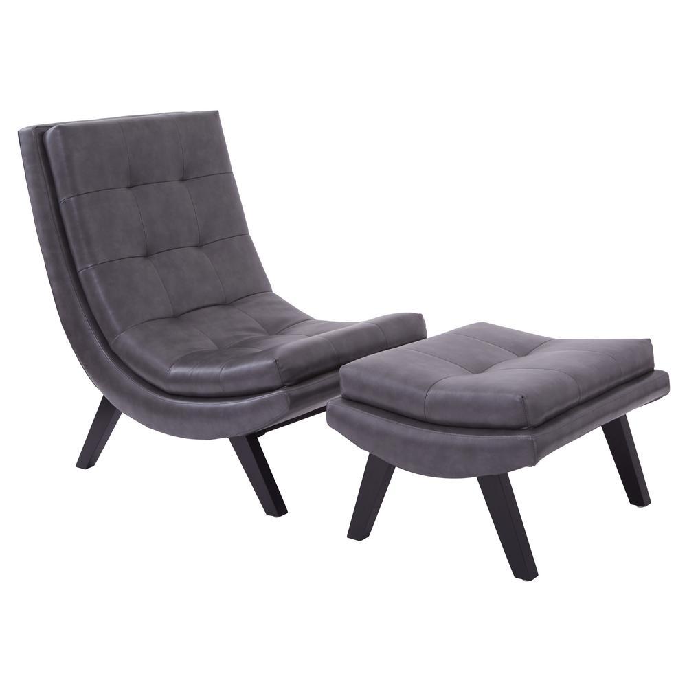 Tustin Lounge Chair and Ottoman Set
