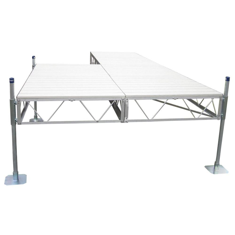 24 ft. Patio Dock with Gray Aluminum Decking