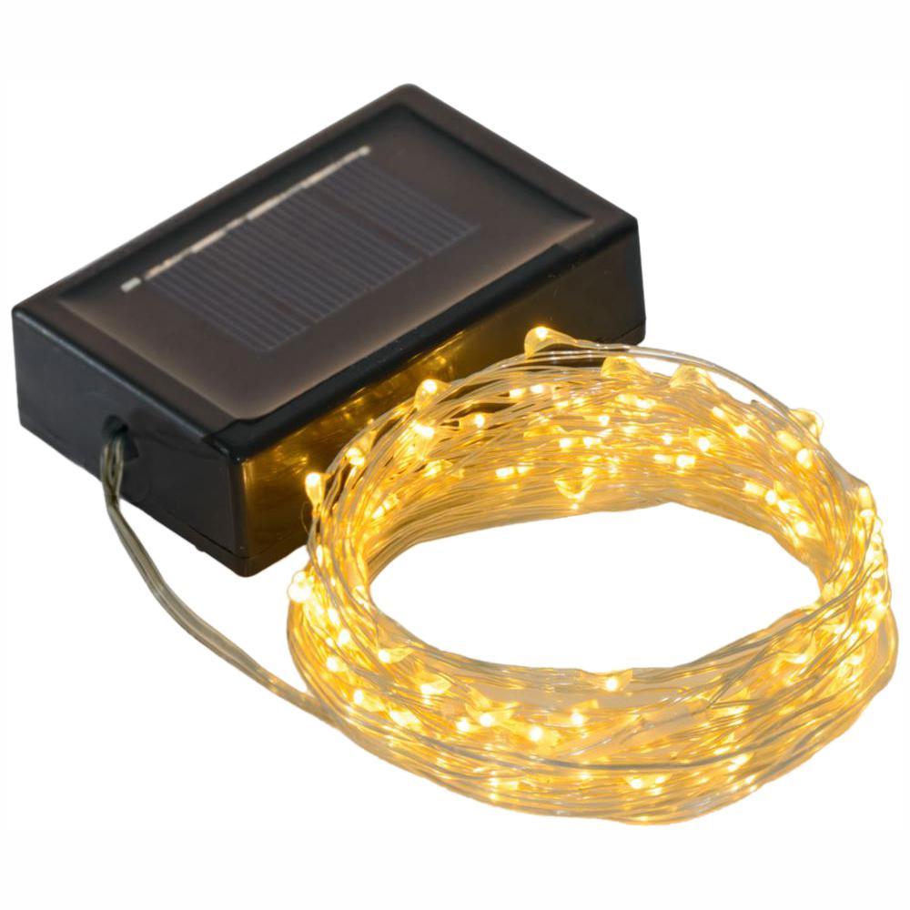 36 ft. 200-LED  Solar Copper Integrated LED String Light