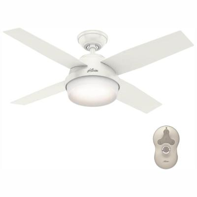 Dempsey 44 in. LED Indoor Fresh White Ceiling Fan with Universal Remote