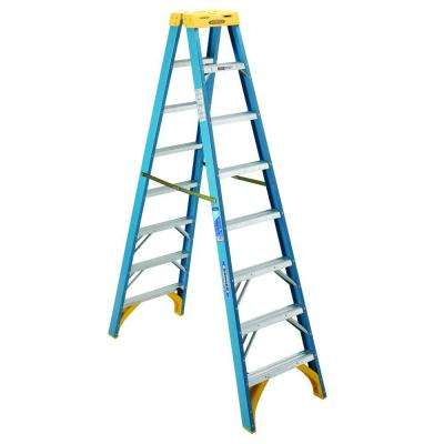 8 ft. Fiberglass Twin Step Ladder with 250 lb. Load Capacity Type I Duty Rating