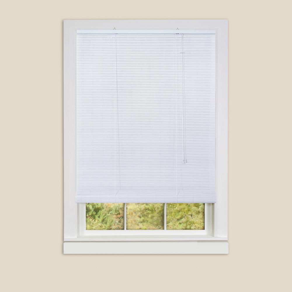 Achim Eclipse White Roll Up 0 25 In Vinyl Blind 60 In