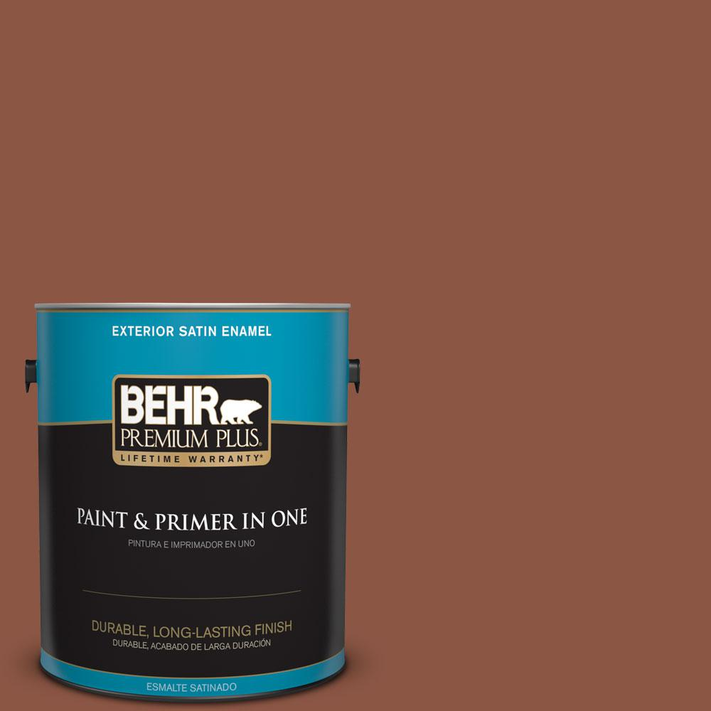 BEHR Premium Plus 1-gal. #S180-7 True Copper Satin Enamel Exterior Paint