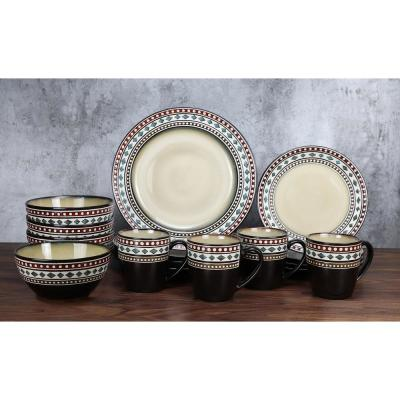 16-Piece Glazed Dinnerware Neutral (Service for 4)