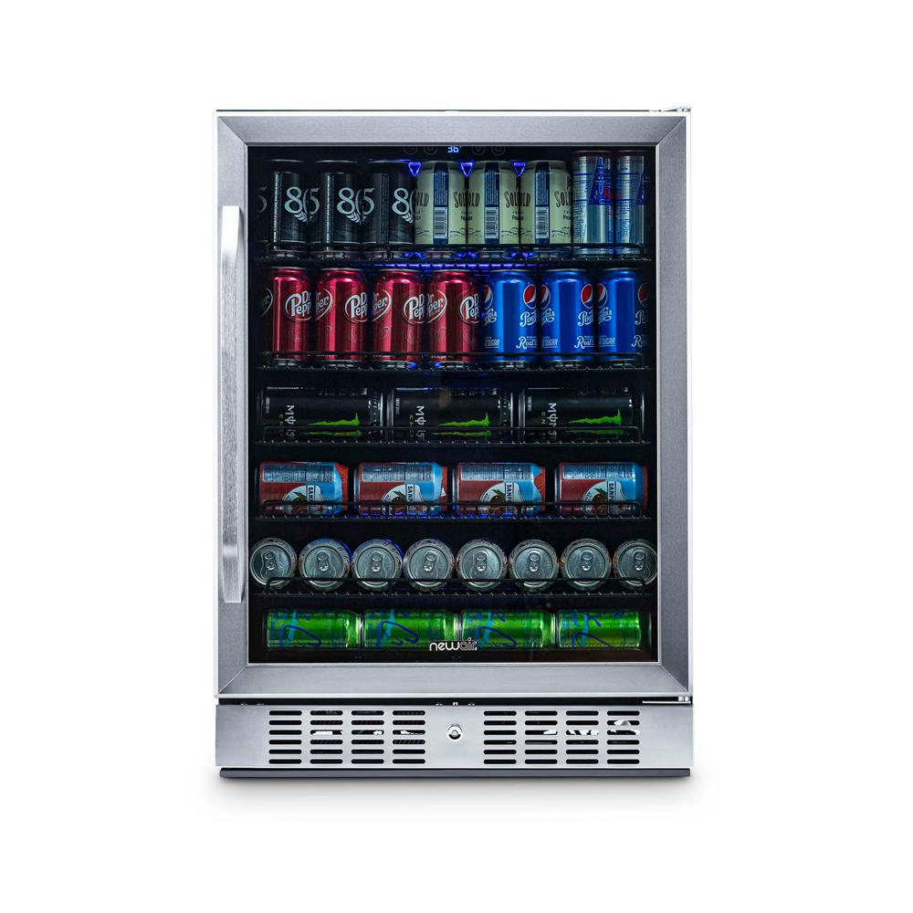 NewAir 23.4 in. 92-Bottle Wine and 177-Can Built In Beverage Cooler