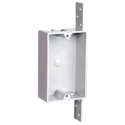 Slater New Work 1-Gang Shallow Plastic Switch and Outlet Box