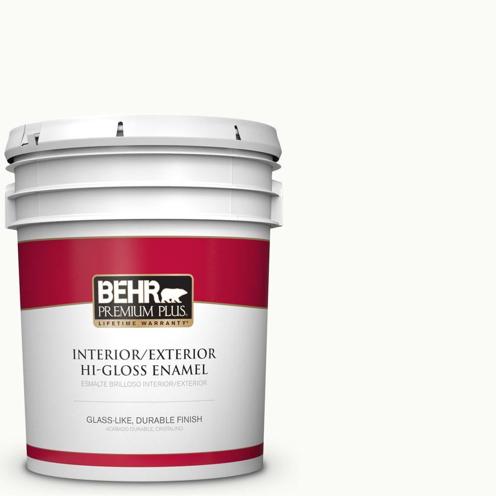 5 gal. #PPU18-06 Ultra Pure White Hi-Gloss Enamel Interior/Exterior Paint