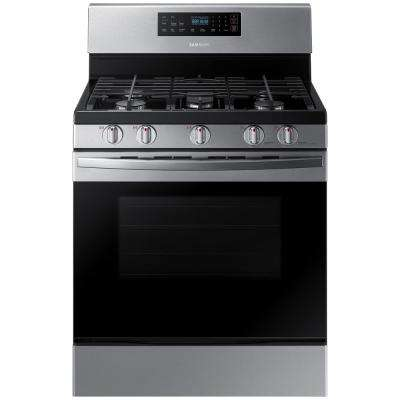 30 in. 5.8 cu. ft. Gas Range with Self-Cleaning Oven in Stainless Steel