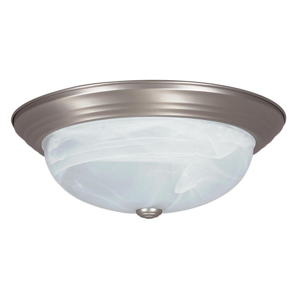 Bohanon 2-Light Satin Nickel Flushmount