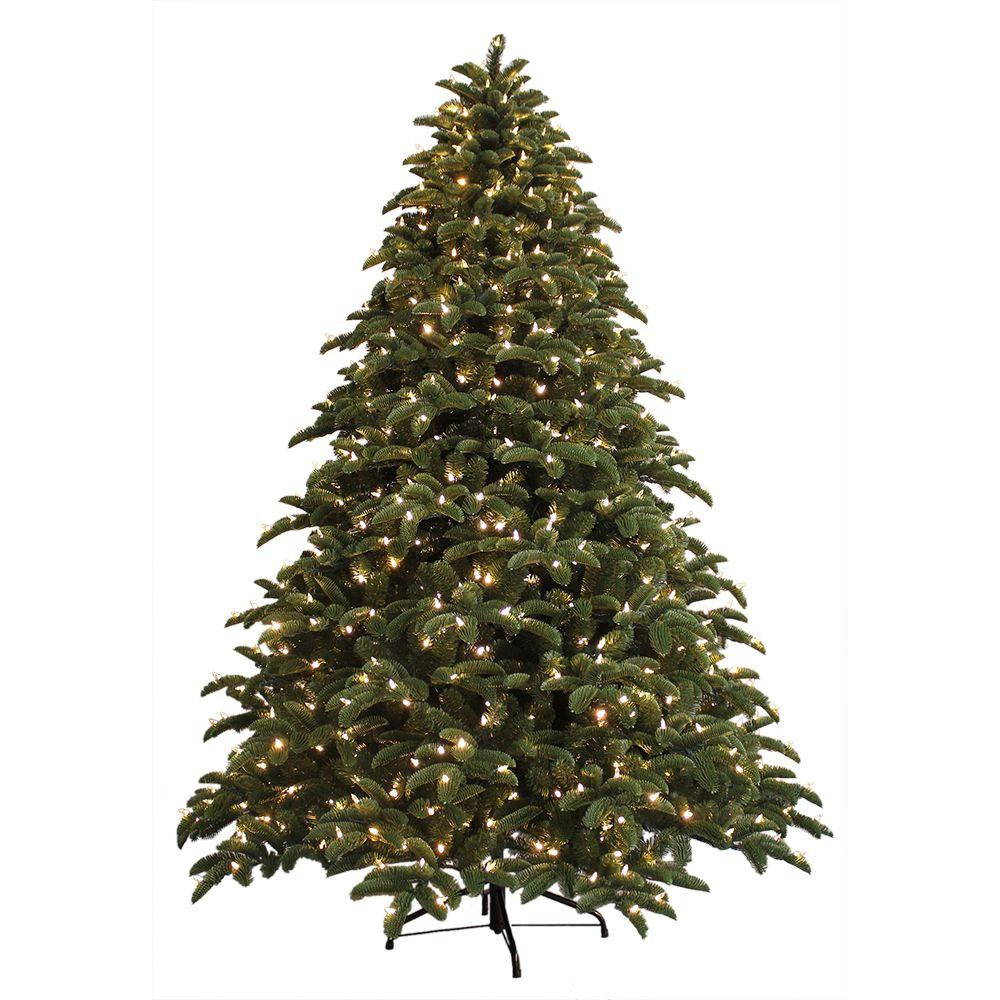 just cut noble fir ez light artificial christmas tree with 800 color