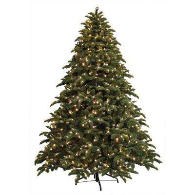 7.5 ft. Just Cut Noble Fir EZ Light Artificial Christmas Tree with 800  Color Choice - 7.5 Ft - GE - Pre-Lit Christmas Trees - Artificial Christmas Trees