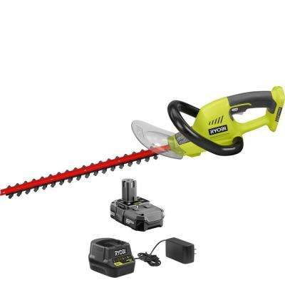 ONE+ 18 in. 18-Volt Lithium-Ion Cordless Hedge Trimmer - 1.3 Ah Battery and Charger Included