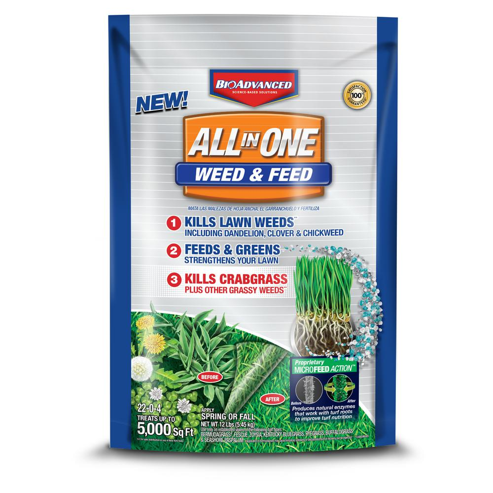12 lb. All-in-One Weed and Feed Granules