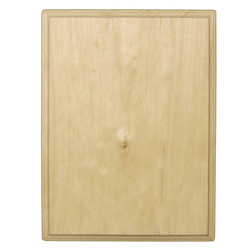 Crates & Pallet 9 in. x 11 in. Unfinished Wood Pine Rectangle Plaque ...
