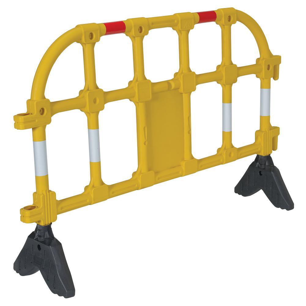 59 in. x 40 in. x 3 in. Yellow Plastic Handrail Barrier
